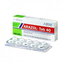 Arazol-Tab 40mg Apimed 3 vỉ x 10 viên