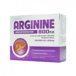 Tpbvsk giải độc gan Arginine 800mg Plus, Hộp 60 viên