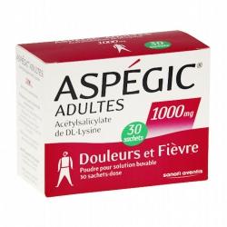 Aspegic 1000mg Sanofi 20 gói
