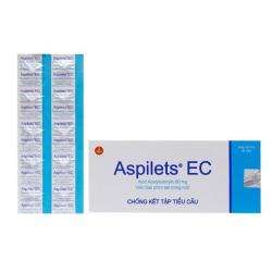 Thuốc tim mạch Aspilet EC 80mg, Hộp 100 viên