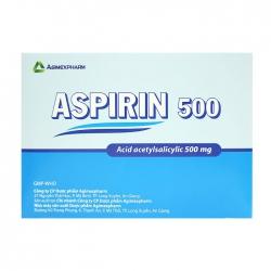 Aspirin 500 Agimexpharm 10 vỉ x 10 viên
