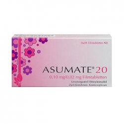 Thuốc ngừa thai Asumate 20, Hộp 21 viên