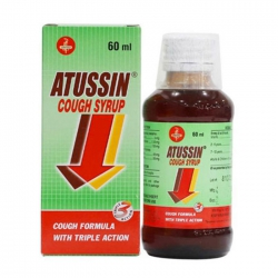 Thuốc ho Atussin syrup, Hộp 60ml