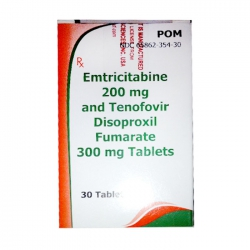 Thuốc Aurobindo Tenofovir 300mg + Emtricitabine 200mg, Hộp 30 viên