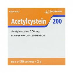 Thuốc ho Imexpharm Acetylcystein 200mg, Hộp 30 gói