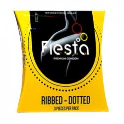 Bao cao su gân gai Fiesta Ribbed Dotted, Hộp 3 cái