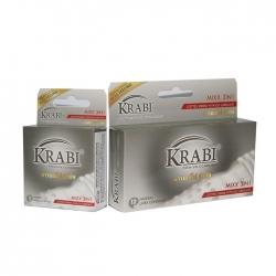 Bao cao su gân, gai và gel bôi trơn Krabi Mixx 3in1