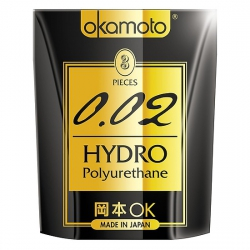 Bao Cao Su Okamoto 0.02 Hydro - Hộp 3 gói