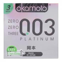 Bao Cao Su Okamoto 0.03 Platinum, Hộp 3 Cái