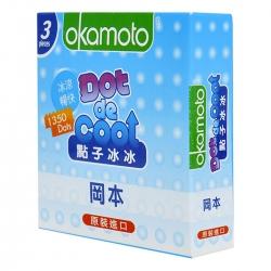 Bao Cao Su Okamoto Dot Cool, Hộp 3 Cái