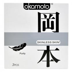 Bao Cao Su Okamoto Skinless Skin Purity, Hộp 3 Cái
