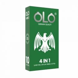 Bao cao su OLO 4 in 1 siêu mỏng gân gai ôm khít, 10 Cái