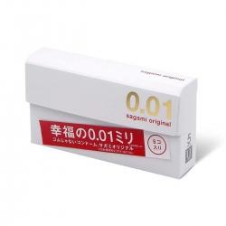Bao Cao Su Sagami Original 0.01 - Hộp 5 Cái