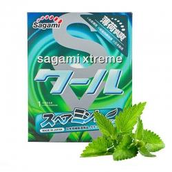 Bao cao su Sagami Spearmint Bạc Hà, Hộp 3 cái