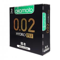 Bao cao su siêu mỏng Okamoto 002 PU, Hộp 3 cái