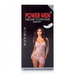 Bao cao su siêu mỏng truyền nhiệt hình Power Men Superthin, 12 cái