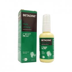 Thuốc xịt họng Betadine Throat Spray 0.45% 50ml