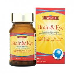 Tpbvsk bổ não khỏe mắt Bewel Brain & Eye, Chai 45 viên