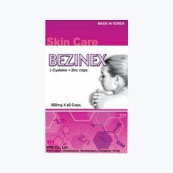Bezinex - L-cystein/zinc 250mg/33mg, Hộp 60 viên
