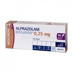 Biogaran Alprazolam 0.25mg, Hộp 30 viên