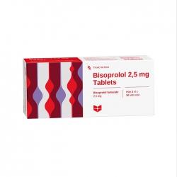 Thuốc tim mạch Stella Bisoprolol 2,5 mg Tablets, Hộp 30 viên