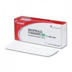 Thuốc tim mạch Actavis Bisoprolol Fumarate 2.5mg, Hộp 28 viên