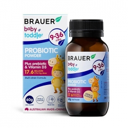 Bột men vi sinh cho trẻ Brauer Baby and Toddler Probiotic Powder 60g