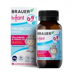 Bột men vi sinh cho trẻ sơ sinh Brauer Infant Probiotic Powder 60g