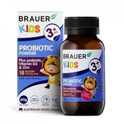 Bột men vi sinh cho trẻ trên 3 tuổi Brauer Kids Probiotic Powder 60g