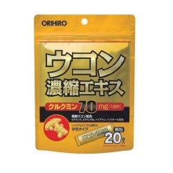 Bột nghệ giải rượu Orihiro Nhật Bản, Hộp 20 gói