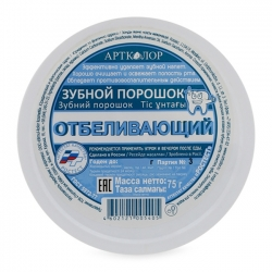 Bột tẩy trắng răng Nga Aptkojiop 75g