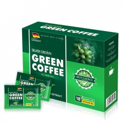 Cà phê giảm cân Silver Crown  Green Coffee Slimming - Hộp 18 gói