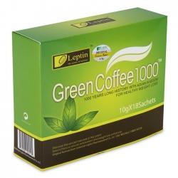 Cà phê giảm cân Leptin Green Coffee 1000 USA - Hộp 18 gói