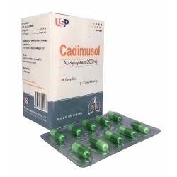 Thuốc đường hô hấp Cadimusol 100 viên - Acetylcysteine 200mg