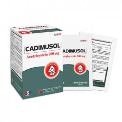 Thuốc đường hô hấp Cadimusol - Acetylcysteine 200mg