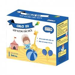Bibo Calci + D3 giúp xương chắc khỏe, Hộp 4 vỉ x 5 ống