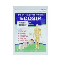Cao dán Ecosip, Hộp 20 gói x 5 miếng