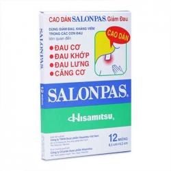 Cao dán giảm đau Salonpas, Hộp 12 miếng