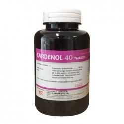 Thuốc Cardenol 40mg, Chai 1000 viên