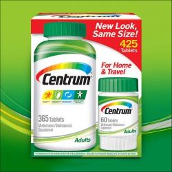 Centrum Adults Multivitamin | Chai 365 viên + 60 viên
