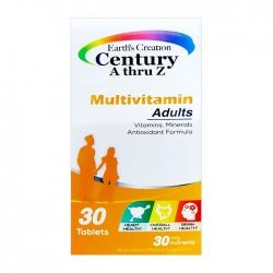 Century A Thru Z Multivitamin Earth's Creation 30 viên - Viên uống bổ sung vitamin và khoáng chất
