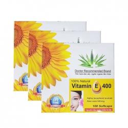 ( Combo 03 Hộp ) Tpbvsk Vitamin E 400 USA Pharma, Hộp 100 viên