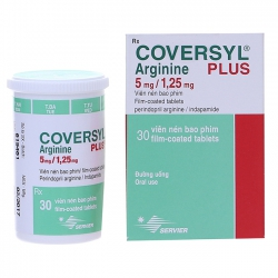 Thuốc điều trị cao huyết áp Coversyl Arginine Plus 5mg/1.25mg, Hộp 30 viên