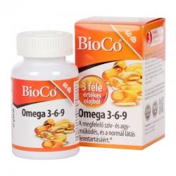 Dầu cá BioCo Omega 3,6,9 tốt cho tim, não, mắt, Chai 60 viên