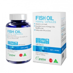 Dầu cá Careline Fish Oil 1000mg, Chai 100 viên