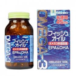 Dầu Cá Omega 3 Orihiro Nhật Bản | Chai 180 Viên