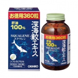 Dầu gan cá mập Orihiro Deep Sea Shark Liver Oil Extract Capsule Economical Bottle ( Squalene )