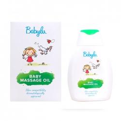 Dầu massage kích thích hệ cơ và hệ thần kinh cho bé Baby Massage Oil 250ml Babylu