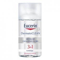 Nước tẩy trang dịu nhẹ cho da nhạy cảm Eucerin Dermato Clean Micellar Cleansing Fluid 3 In 1 125ml