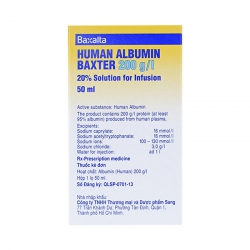 Dịch truyền Human Albumin Baxter 200G/l 20% 50Ml